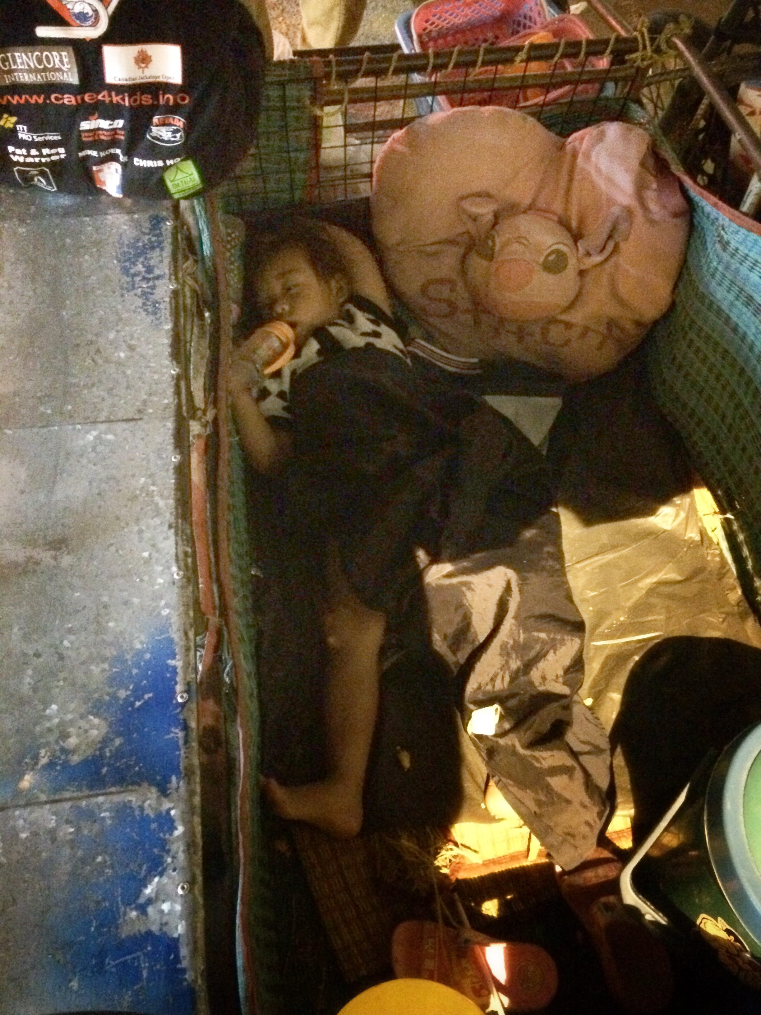 baby in the dumpster